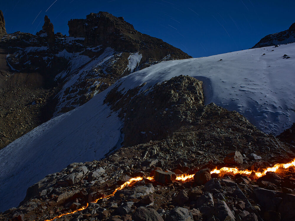 The Lewis Glacier, Mt. Kenya, 2004 (B)