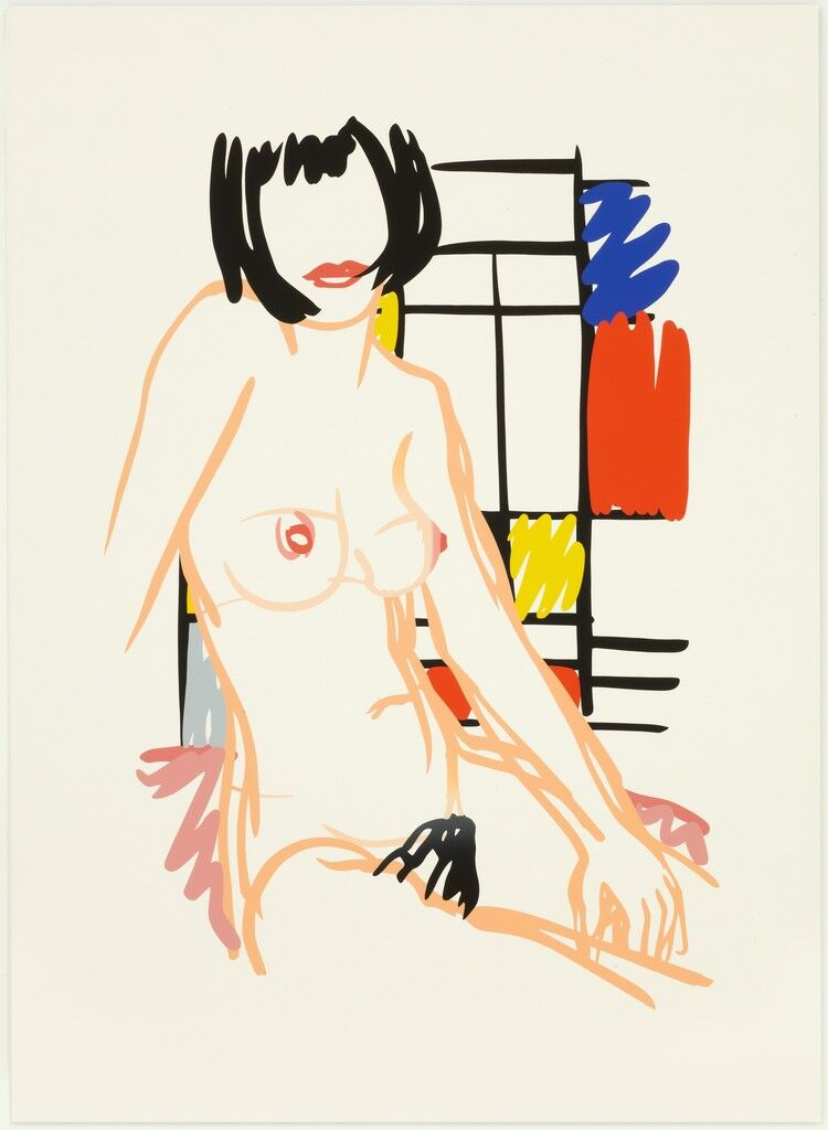 Monica Sitting with Mondrian