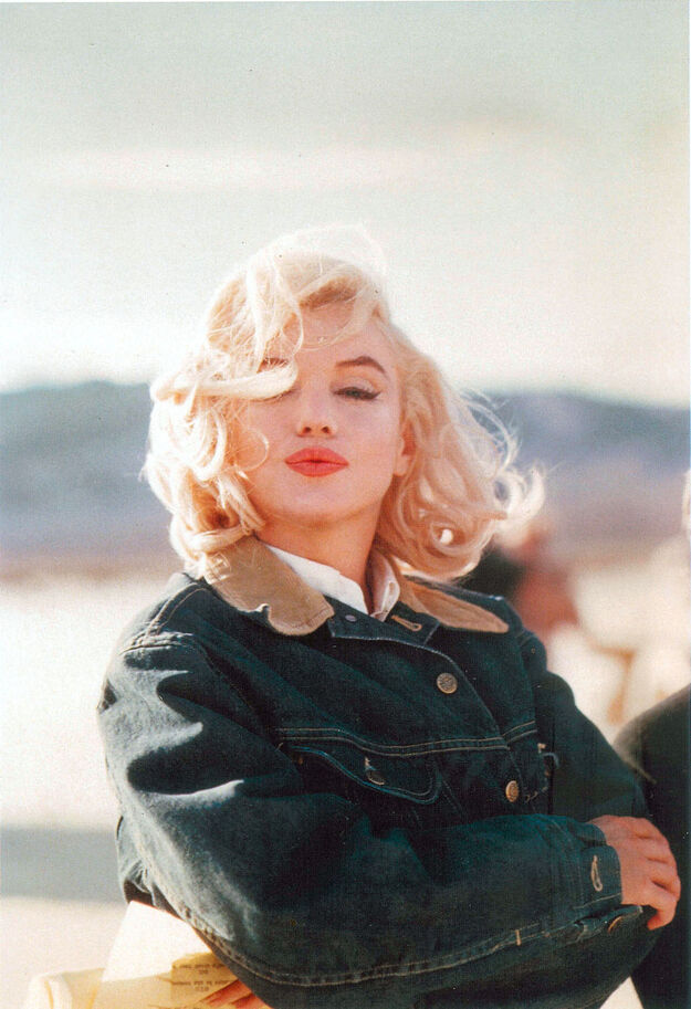 US actress Marilyn Monroe on the Nevada desert during the filming of The Misfits, directed by John Huston, USA,