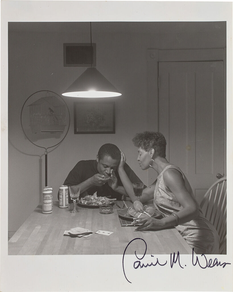 Untitled - Man Eating Lobster [From the Carrie Mae Weems: Kitchen Table Series]