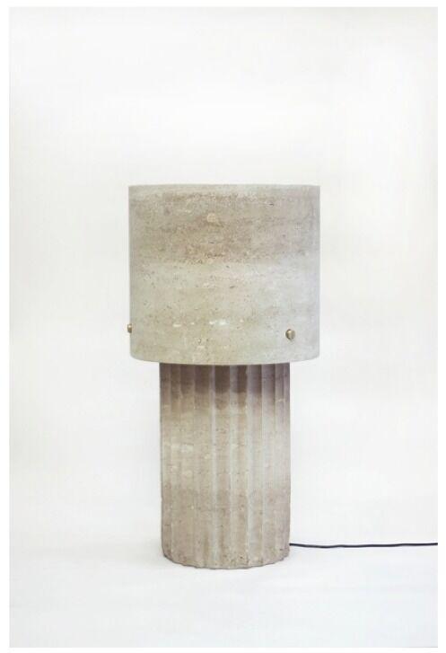 Large Portland Limestone Lamp