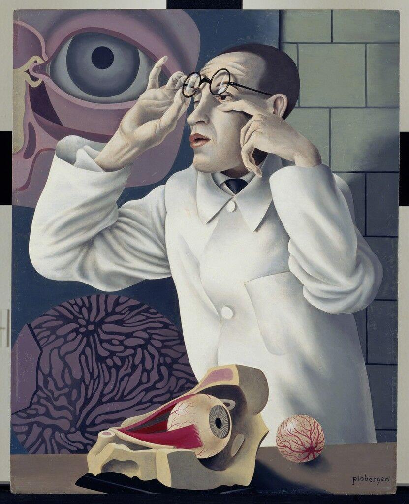 Self-Portrait with Opthalmological Models (Selbstbildnis mit Opthamologischen Lehrmodellen)