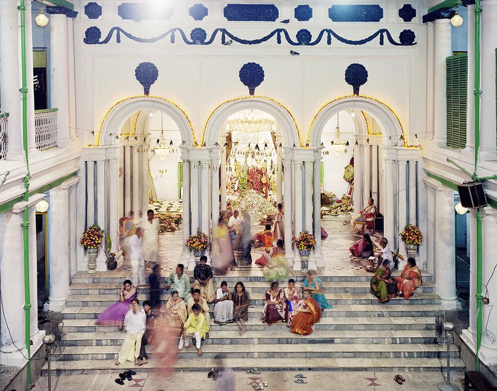 Family Gathering During Durga Puja, Dwarika House, North Kolkata