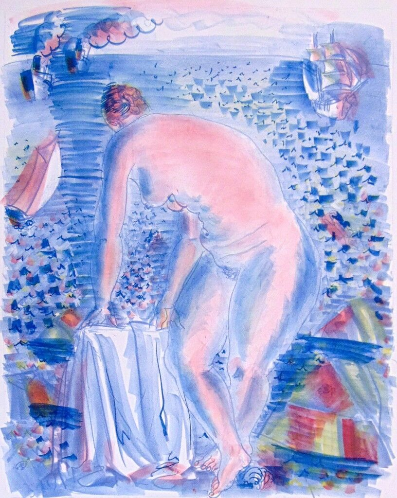 The Large Bather, (Colour proof)