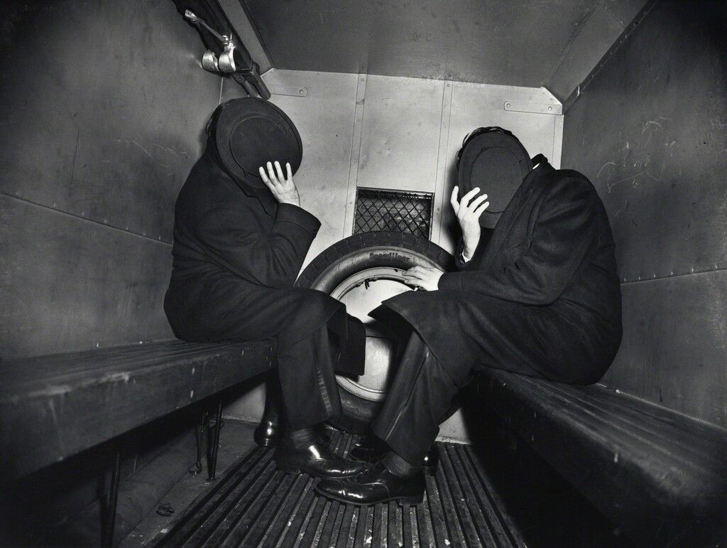 Weegee, Two Offenders in the Paddy Wagon,