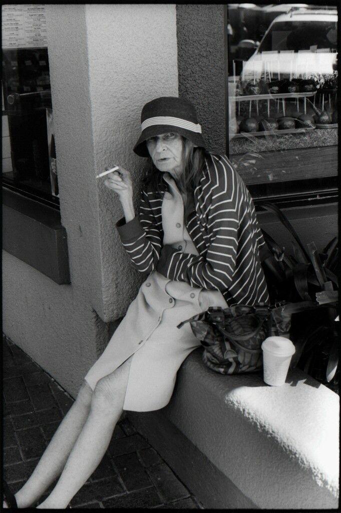 Old Woman Sitting, Smoking, HB
