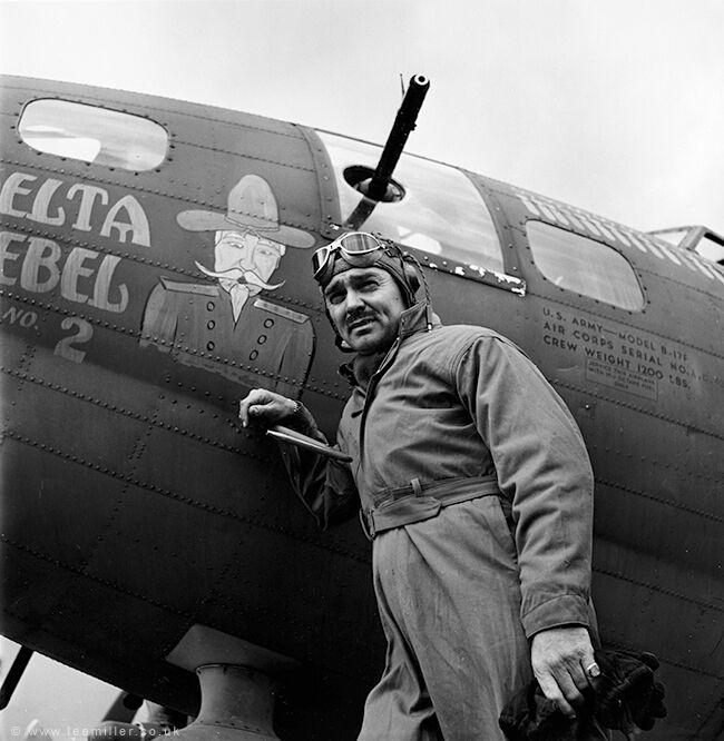 Clark Gable, US Airforce base, England,