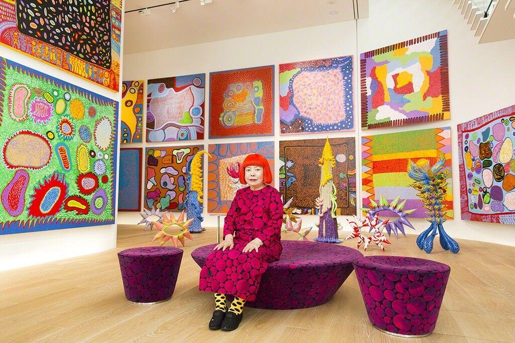 Yayoi Kusama with recent works in Tokyo