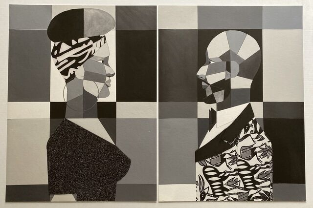 Diptych - Woman and Man in Grayscale