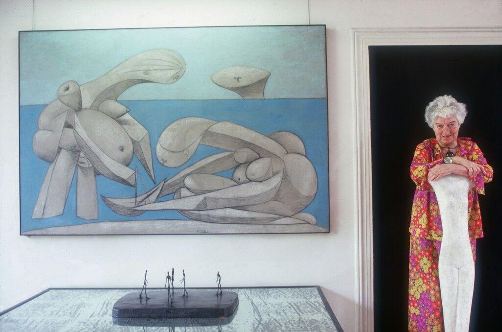 Peggy Guggenheim at the Palazzo Venier Dei Leoni, Venice, Italy