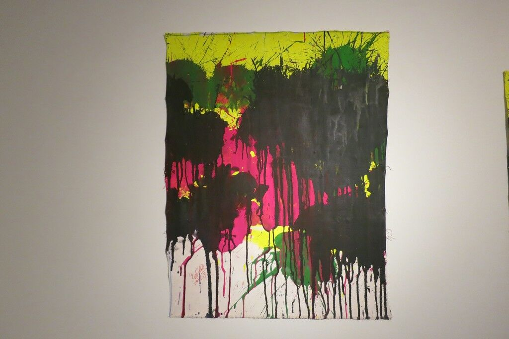 Magenta, Green and Black on Yellow