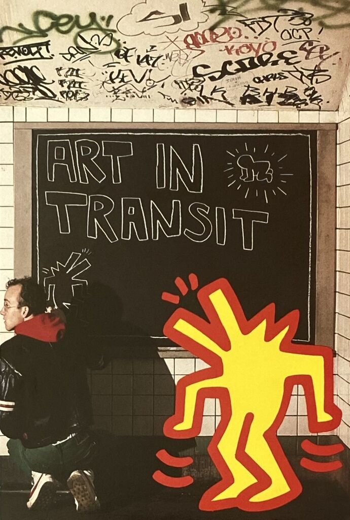 Keith Haring Art In Transit 1984 (Tseng Kwong Chi Keith Haring announcement)