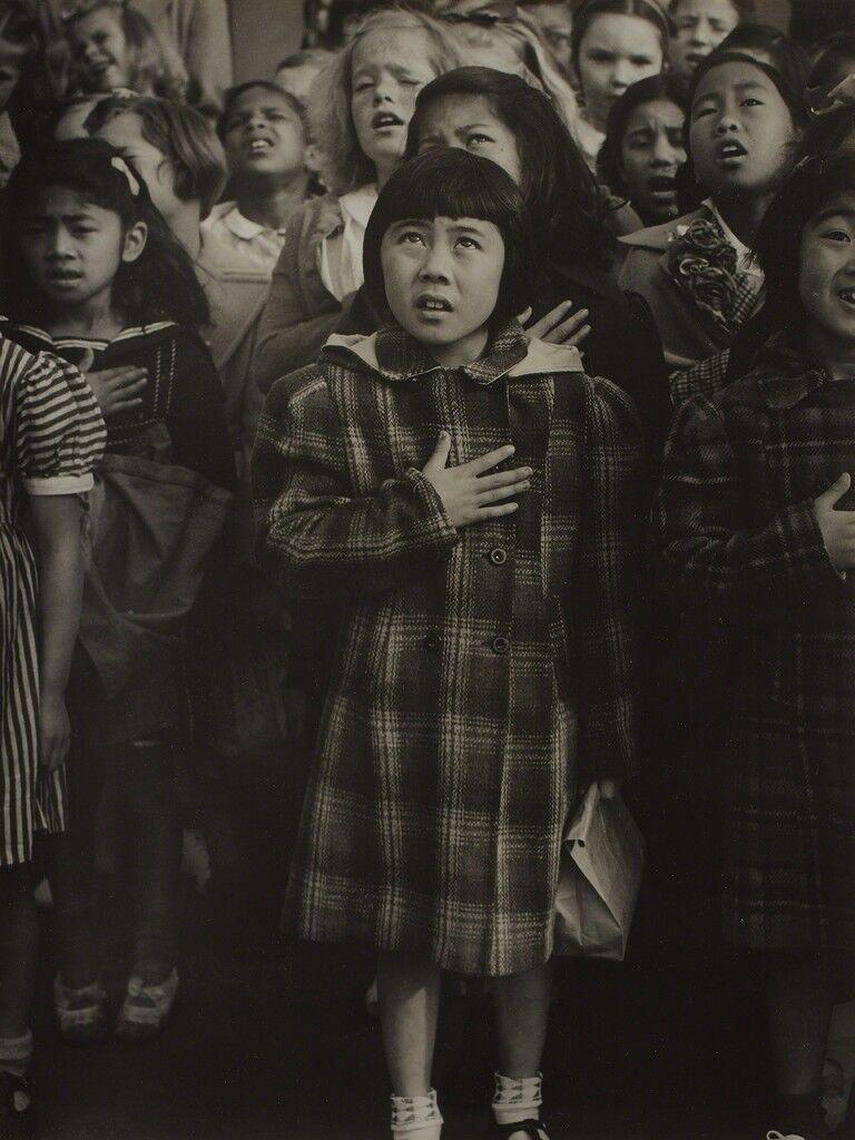 Pledge of Allegiance at Raphael Weill Elementary School a Few Weeks Prior to Evacuation, San Francisco