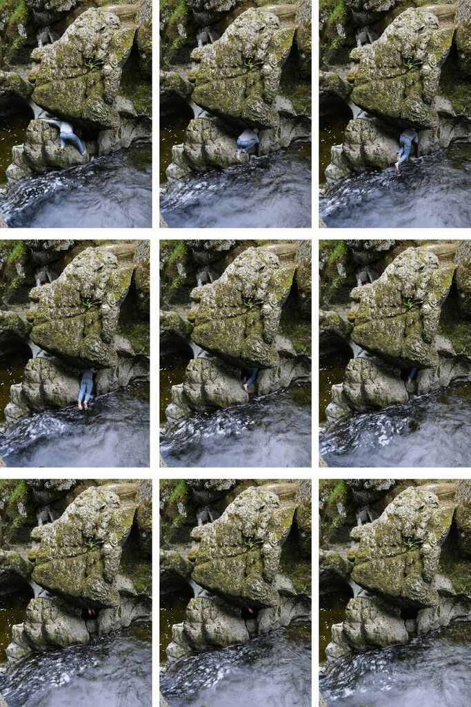 Entering a stone Dumfriesshire, Scotland 29 July 2014