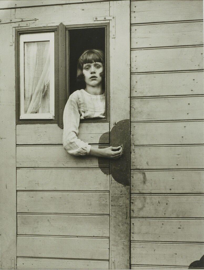 Girl in Fairground Caravan