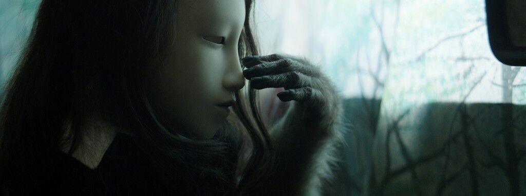 Film still from Untitled (Human Mask)