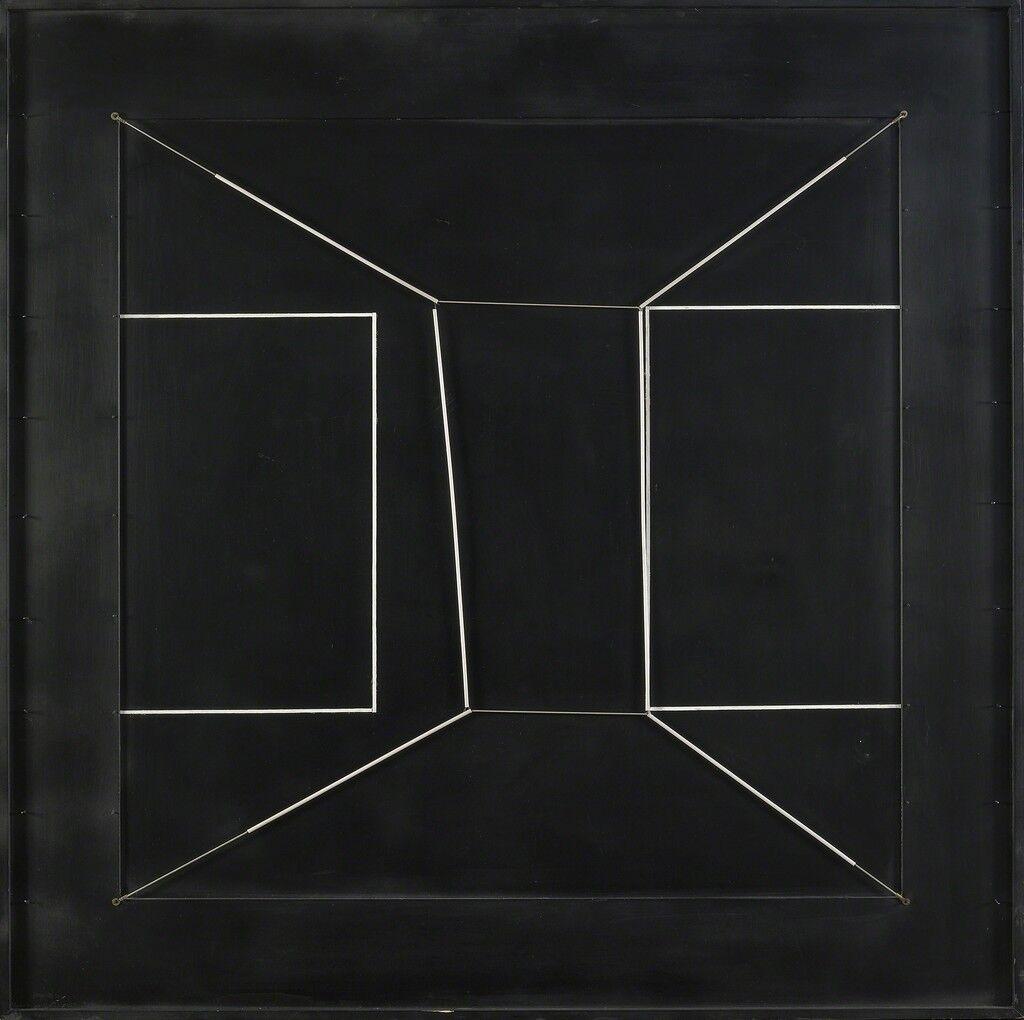 Spazio elastico intermutabile, due doppi quadrati incompiuti (Intermutable Elastic Space, Two Incomplete Double Square)