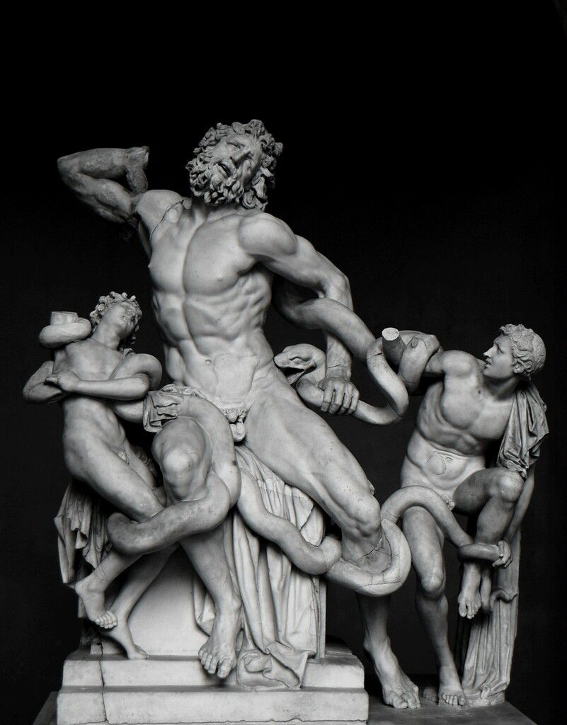 Laocoön and His Sons, as restored today (probably the original or a Roman copy)