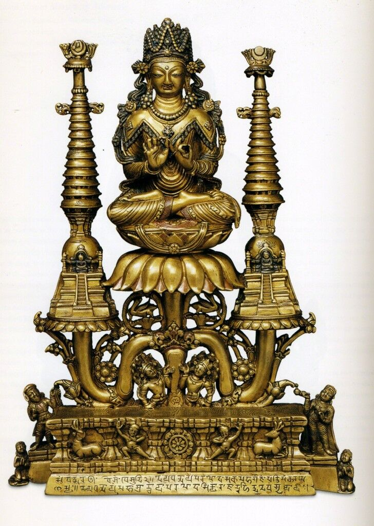 Buda coronado Shakyamuni