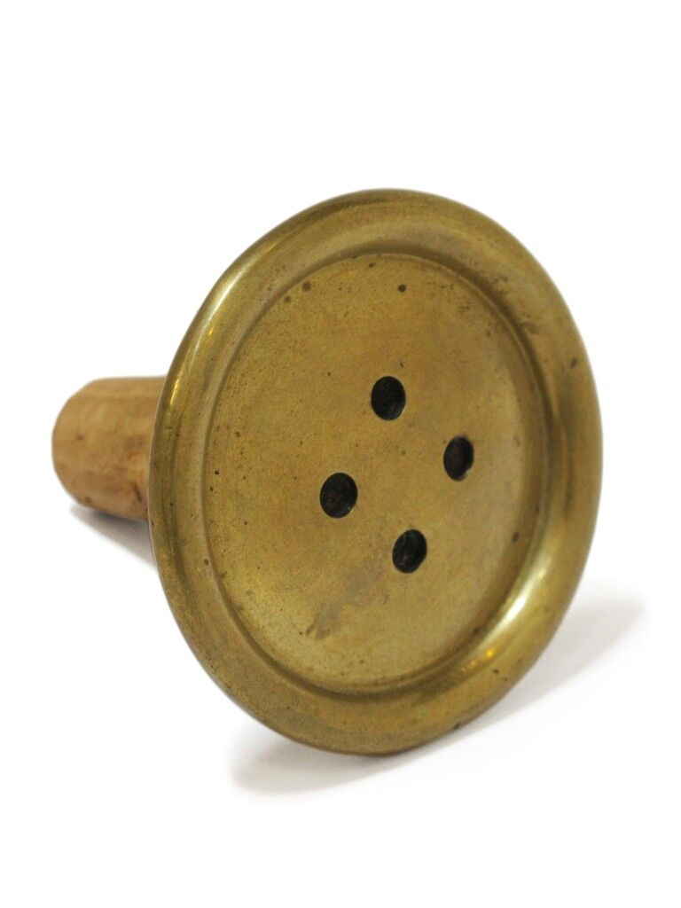 Brass Button Bottle Stop