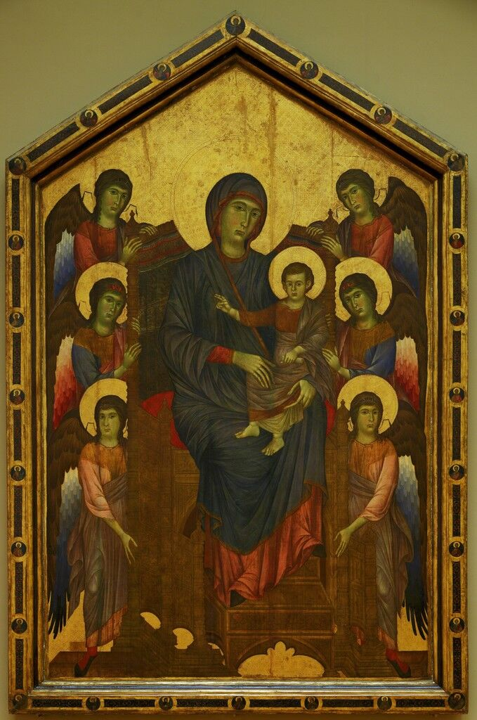 Virgin and Jesus in Glory, Surrounded by Six Angels (also caled Madonna and Child)