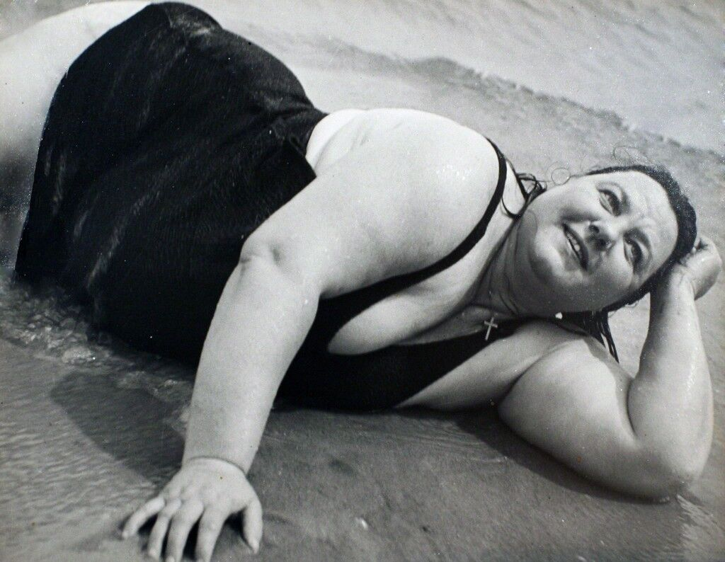 Coney Island Bather, New York (Reclining)