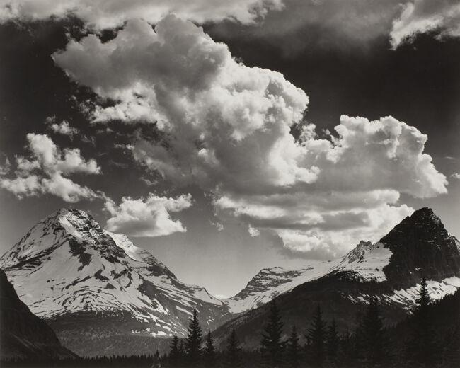 Noon clouds, Glacier Park, Montana