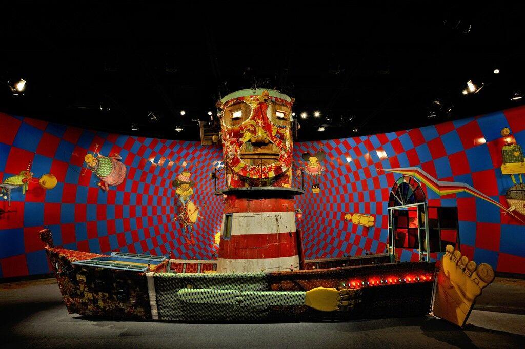 """Exposição """"Vertigem"""", Museu de Arte Brasileira – FAAP, São Paulo, Brasil.Primeira exposição itinerante no Brasil; exposição de maior público do MAB até então."""