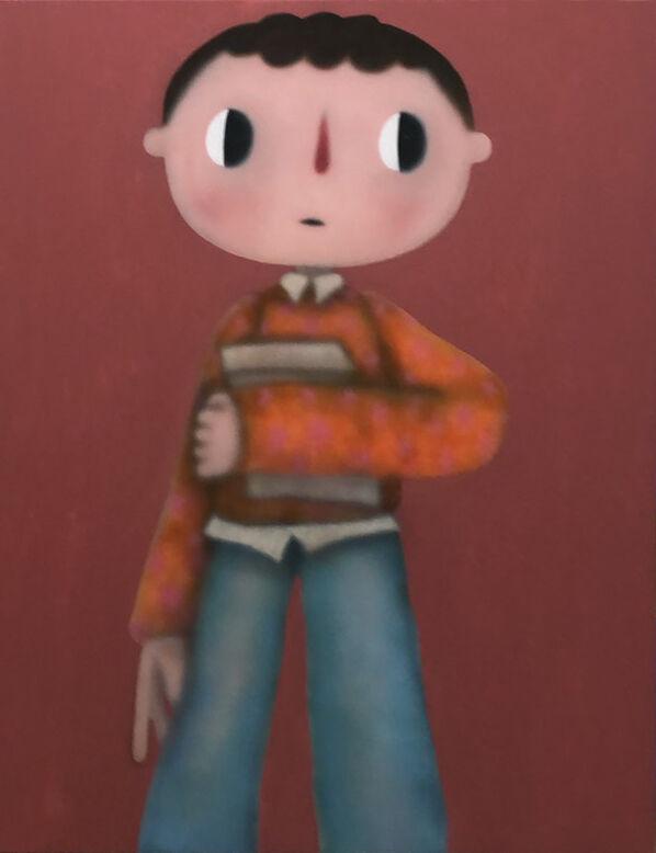 Boy Holding Brown Bag
