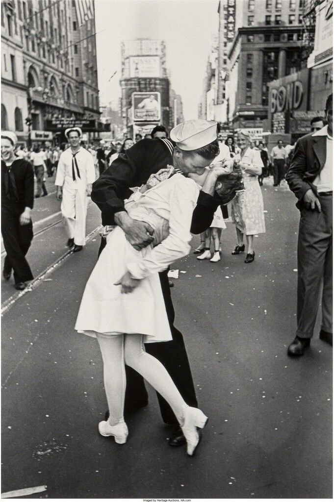 Image result for the kissing sailor