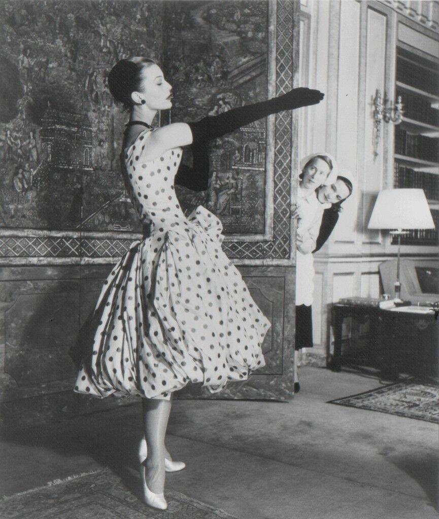 Mary Jane Russell in Dior Dress, Paris