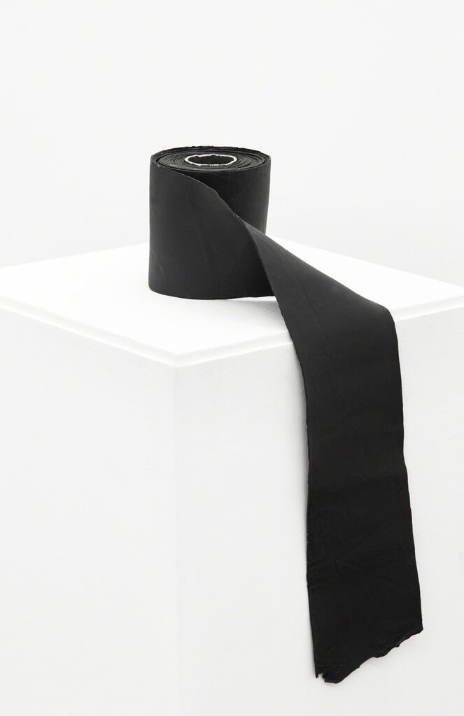Painting of a Black Paper Roll: Passage from Volume to Plane