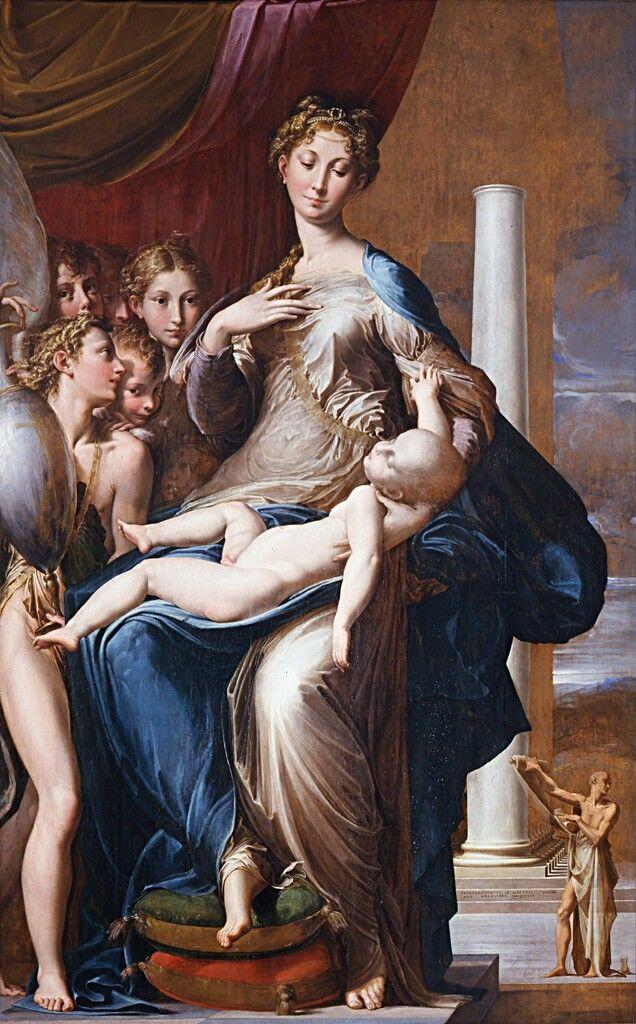 Madonna con el cuello largo