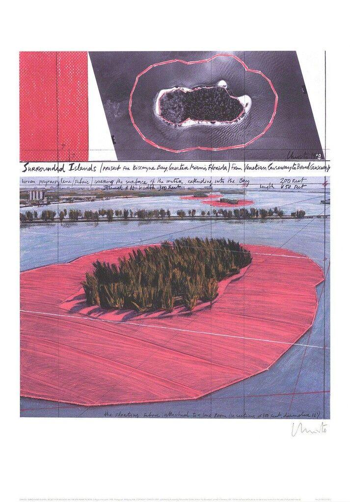 Islas Rodeadas, Proyecto para Biscane Bay, Gran Miami, Collage en dos partes