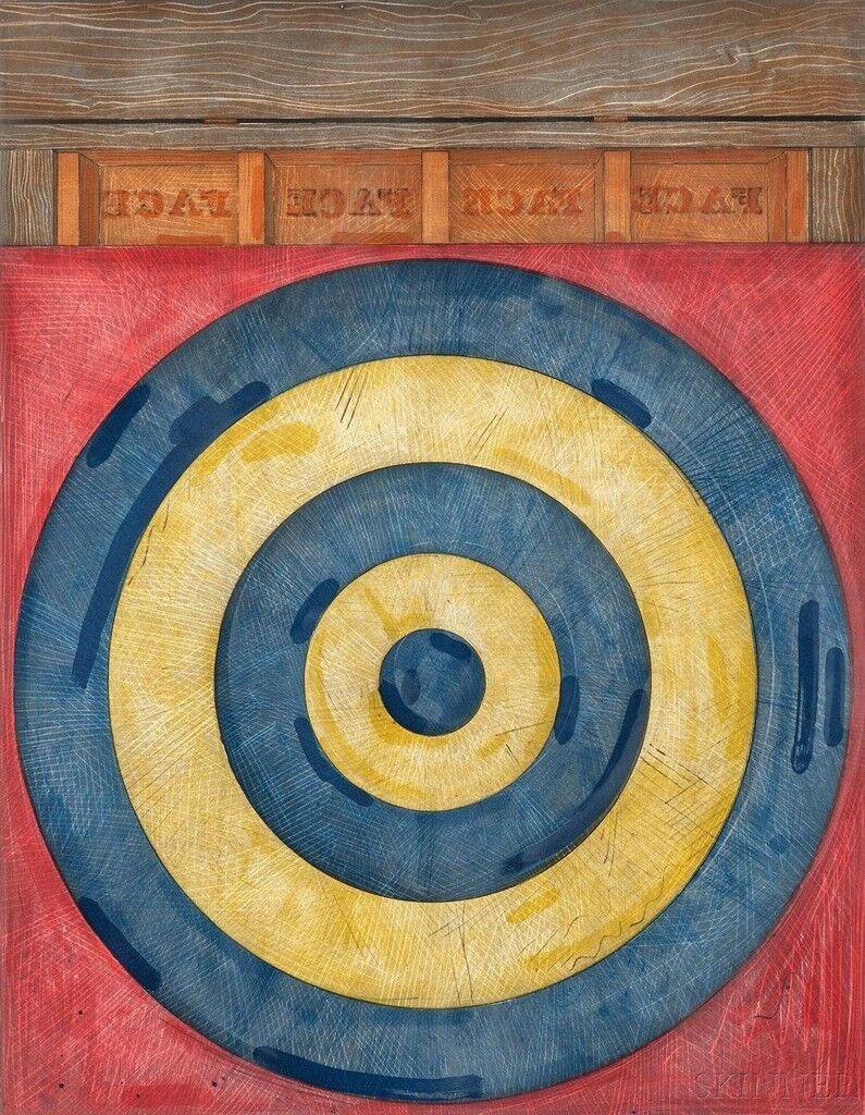 Why jasper johns is an icon of 20th century painting target with four faces gumiabroncs Gallery