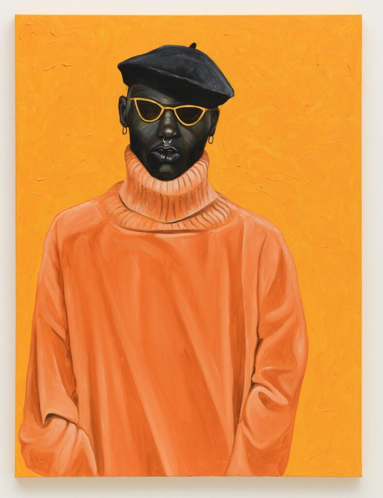 Orange Turtleneck