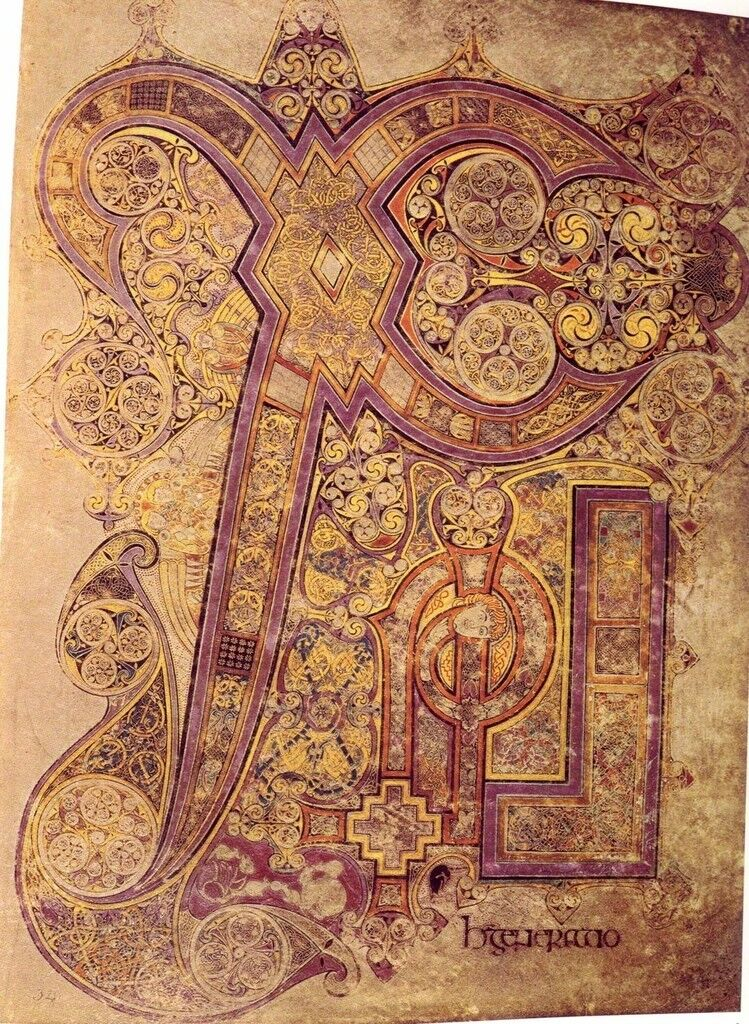 Chi Rho Iota page from the Book of Kells, Matthew 1:18