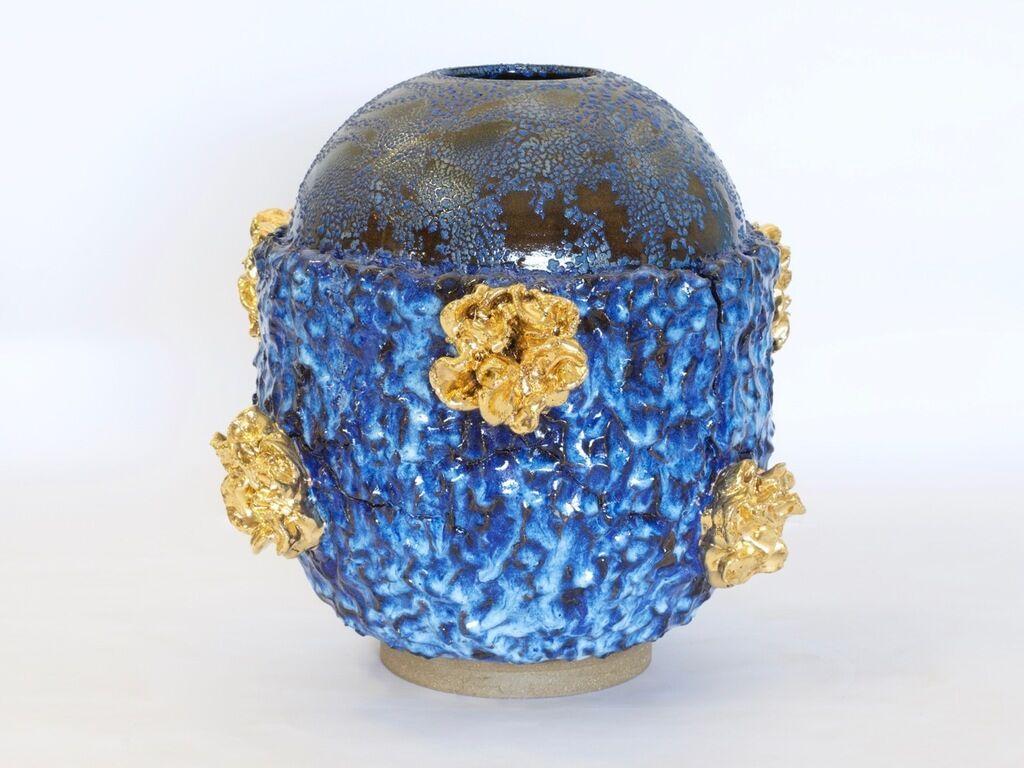 Cavilux bleu et or - Chrysanthème