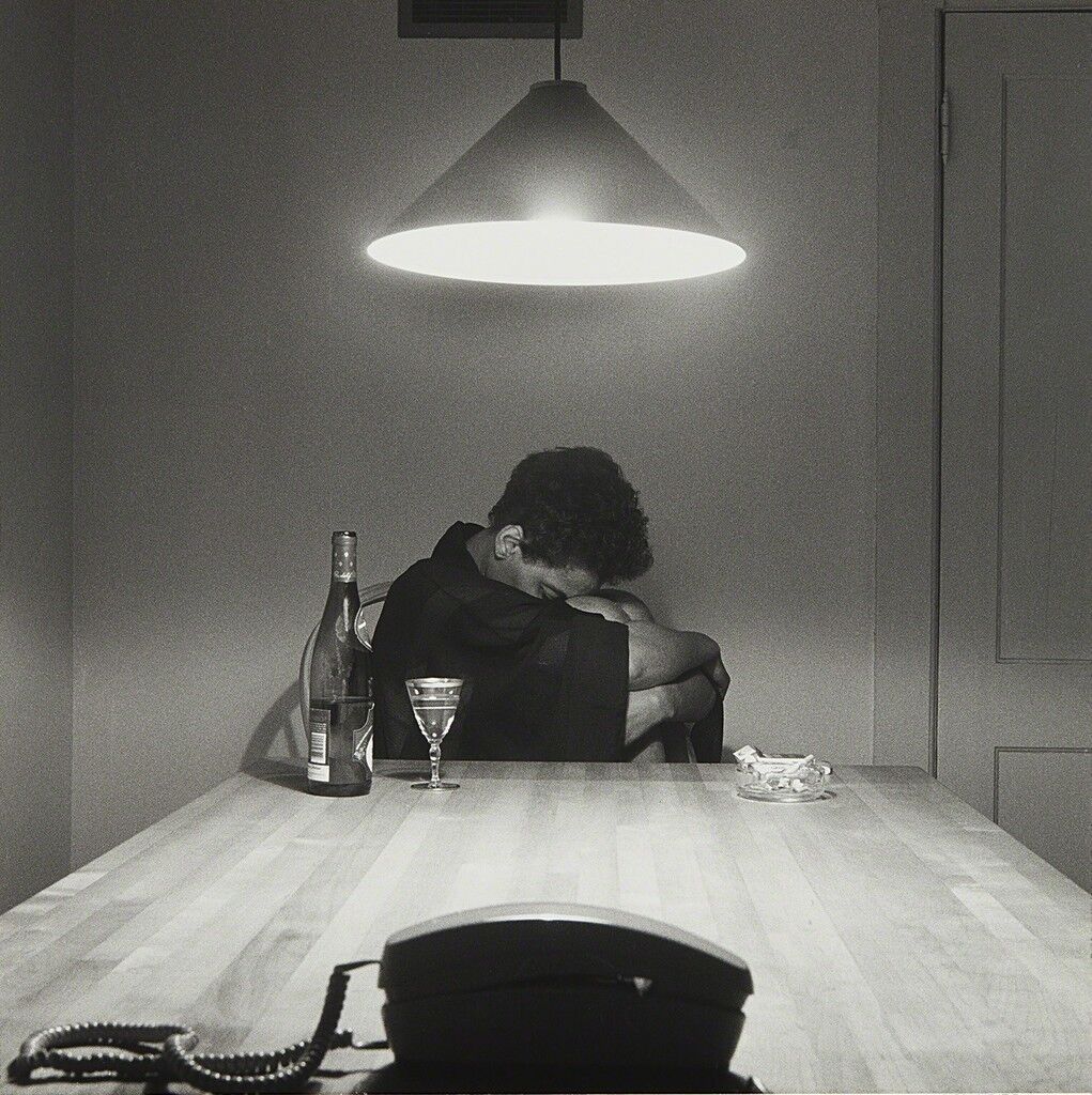 Untitled (Woman and phone) from the series The Kitchen Table