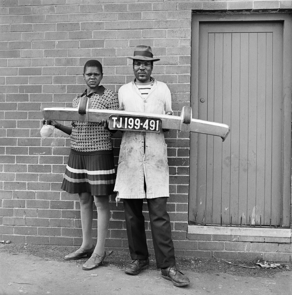 She said to him 'You be the driver and I'll be the madam,' then they picked up the fender and posed, Hillbrow