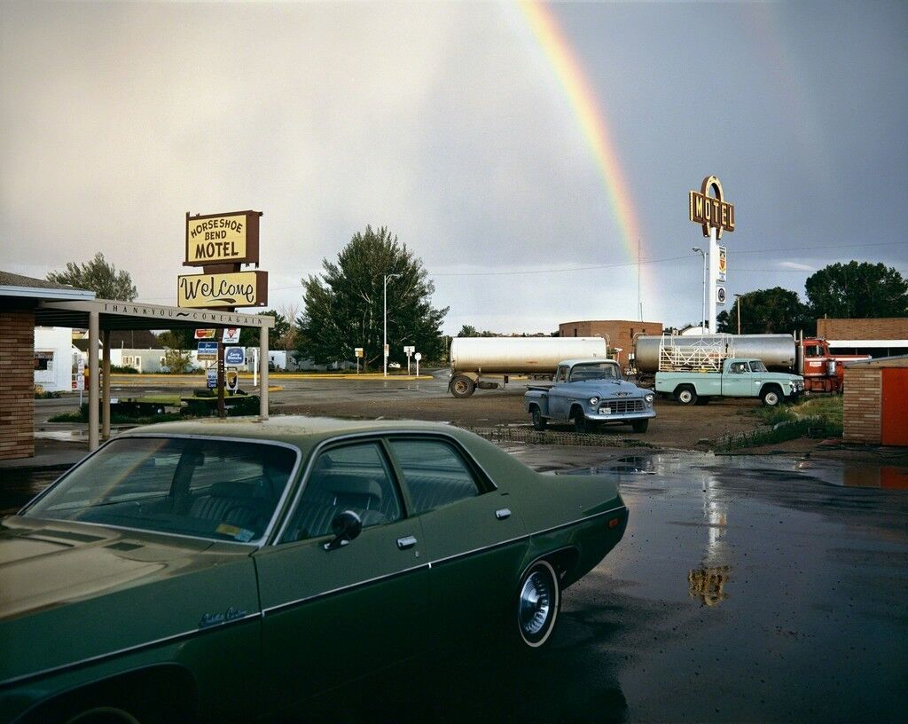 Horseshoe Bend Motel, Lovell, Wyoming, July 16, 1973