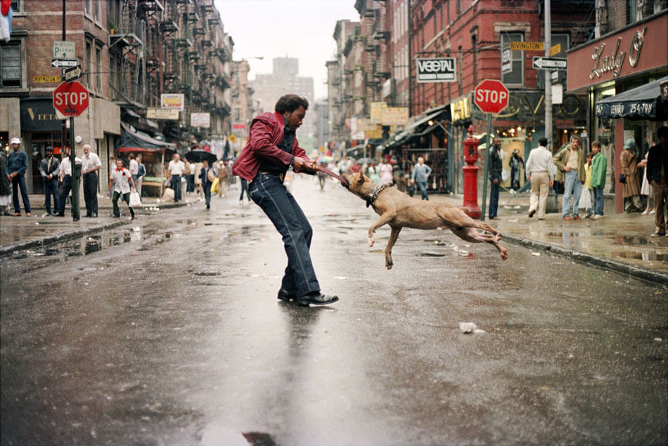Man and Dog, Lower East Side, Manhattan NYC