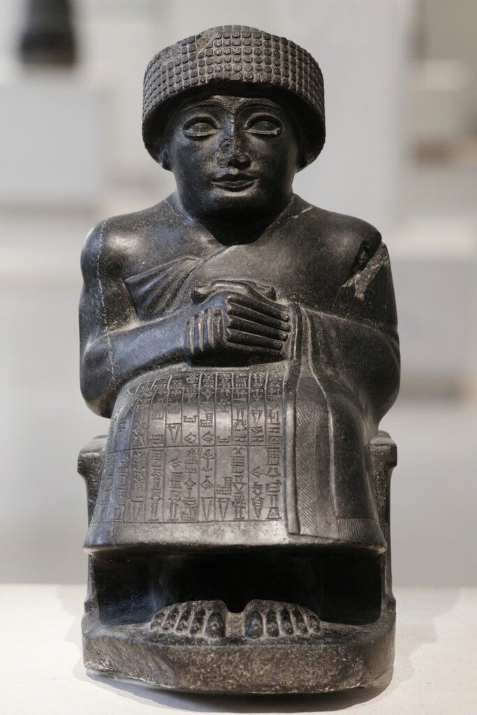 Gudea, Prince of Lagash Seated statue dedicated to the god Ningishzida, Tello (ancient Girsu)