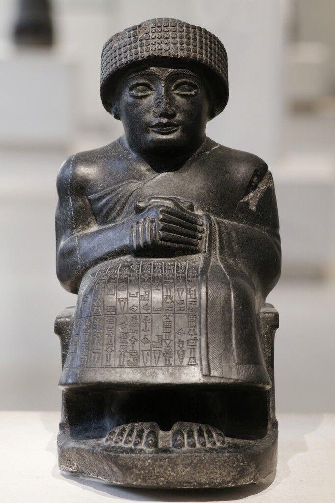 Gudea, Prince of Lagash Seated statue dedicated to the god Ningishzida, Tello (ancient Girsu)