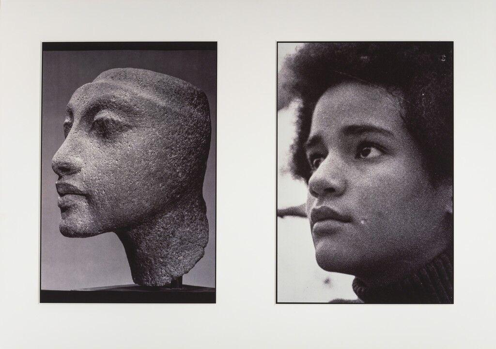 "Sisters III (L: Nefertiti's daughter, Maketaten; R: Devonia's Daughter, Kimberley), from the ""Miscegenated Family Album"""