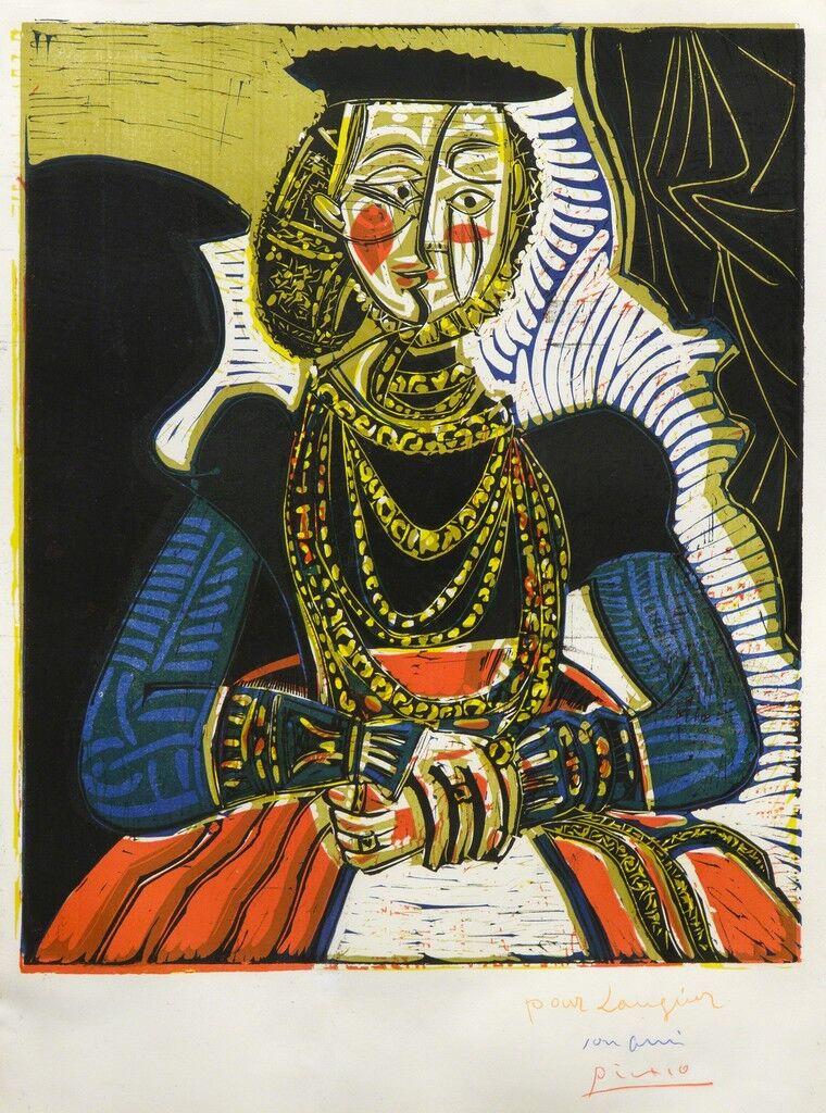 Portrait of a Young Girl, after Cranach the Younger, II (Buste de Femme d'après Cranach le Jeune)