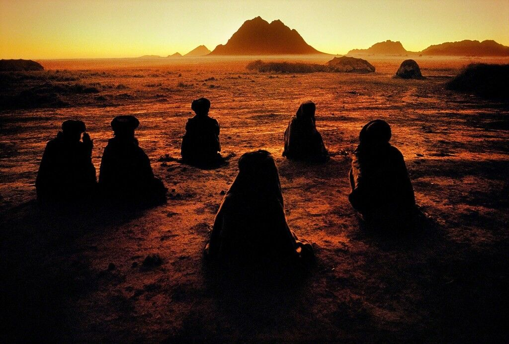 Kuchi Nomads, Evening Prayer, Kandahar, Afghanistan
