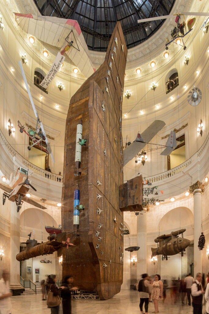 Installation view of Cai Guo-Qiang: Da Vincis do Povo, Centro Cultural Banco do Brasil, Rio de Janeiro