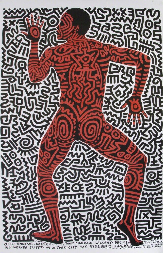 Keith Haring, Tony Shafrazi Gallery, Exhibition Poster