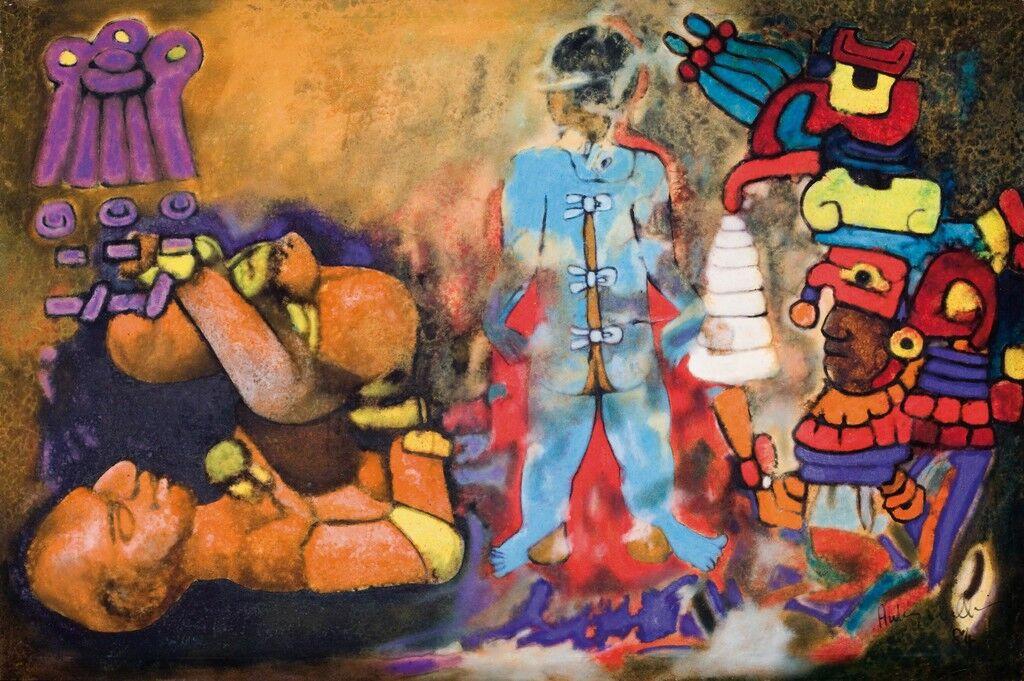 Aubrey Williams Maya Ritual Volmec Maya Series 1984